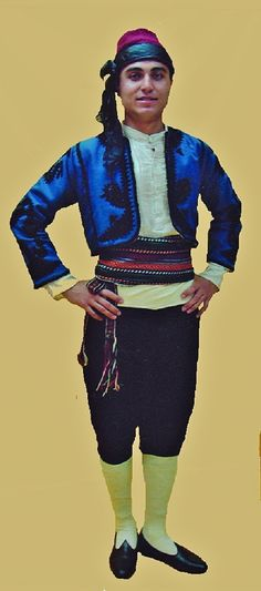Traditional festive costume from the province of Burdur. 1925-1950.  This is a recent workshop-made copy, as worn by folk dance groups.