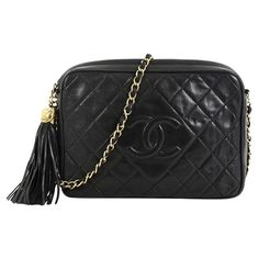 891ee1010d7b Chanel Vintage Diamond CC Camera Bag Quilted Leather Medium