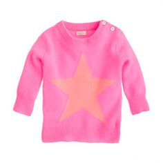 Love the star and the color combo of this JCrew baby cashmere sweater. The price? Not so much
