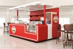 Sette Studio | Quiosques para Shopping - Projeto de Quiosque | Quiosque Cachorro Quente Hot Dog