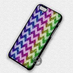 Rainbow Glitter Under Chevron - iPhone 7 6s 5c 4s SE Cases & Covers #chevron #glitter #rainbow #colorful  #phonecase #phonecover #iphonecover #iphonecase #iphone7case #iphone7plus #iphone6case #iphone6plus #iphone6s #iphone6splus #iphoneSE #iphone5case #iphone5c #iphone5s #iphone4case #iphone4s