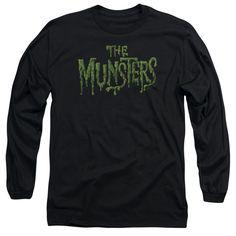 Munsters: Distress Logo Long Sleeve T-Shirt