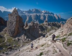 Hiking from Cortina d'Ampezzo to Alta Badia