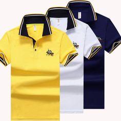 New Fashion Brand Polo Shirts Men Summer Short Sleeve Slim Shirt Cotton Men Casual Tee Shirts 2XL 3XL