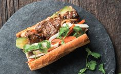 Succulent steak is right at home alongside pickled vegetables in this beloved Vietnamese sandwich.