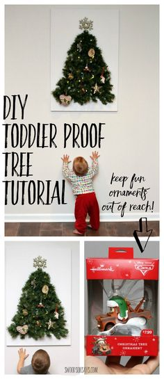 Christmas Crafts : Illustration Description DIY Toddler Proof Tutorial - keep your fun ornaments as decoration instead of toys with this easy tutorial for Christmas Crafts For Toddlers, Christmas Activities, Xmas Crafts, Christmas Printables, Christmas Projects, Christmas Traditions, Diy Crafts, Kid Activities, Homemade Christmas Gifts