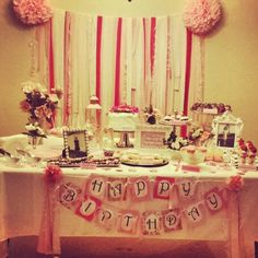 The Vintage 90th Birthday Party I did for my sweet Grandma. Dessert Table turned out Perfect!!!