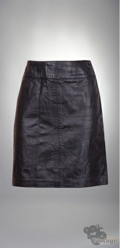 Vintage 90´s Black Leather Mini Skirt Size S - Bichovintage - Vintage & Retro & Recycled - Clothing and Accesories - Online Store
