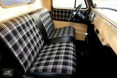 Cool bench seat design.