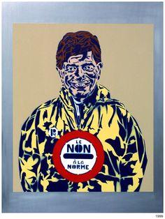 Le non à la norme. 1999 Stencil Graffiti, Stencils, Artworks, Street Art, Art Pieces, Templates, Stenciling, Sketches, Art