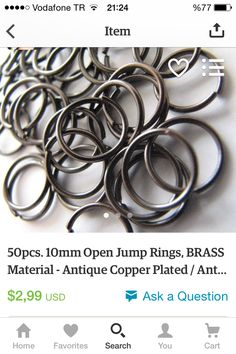 #brass #jewellery #jewelry #jump #jumprings #jumpring #premium #premiumquality #etsy #etsyfind #etsylove #etsysale #etsyshop #handmade #material #cheap #discount https://www.etsy.com/listing/247905704/50pcs-10mm-open-jump-rings-brass