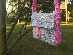 handmade crochet bag. colorful - cross body bag for girls
