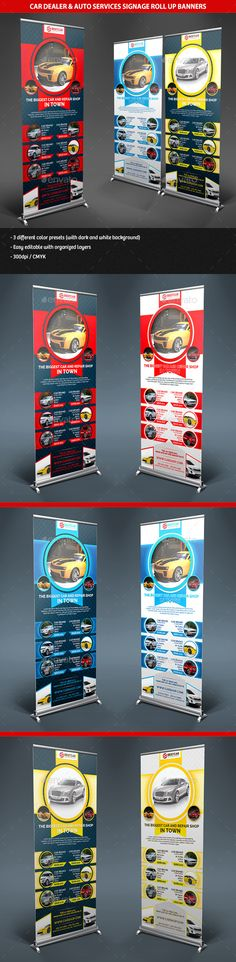 Car Dealer & Auto Services Signage Roll Up Banners