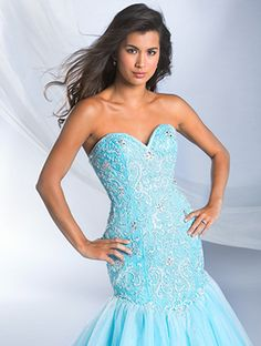 $999 Alfred Angelo Bridal Gown Style 249 Ariel in Ocean Blue Size 12