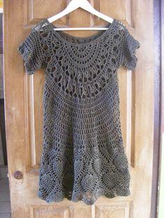 vestido tejido en crochet