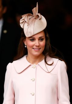 Looking back, it's obvious Kate's choice of color was a nod to the sex of her second baby. Just a month before welcoming Princess Charlotte, she glowed in a pink-hued ensemble (look at that gorgeous hat!) at a Commonwealth Observance Service at Westminster Abbey on March 9. - HouseBeautiful.com