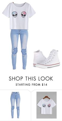 """Untitled #350"" by thenerdyfairy on Polyvore featuring Converse"