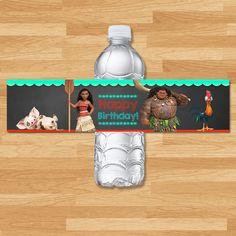 Moana Drink Label  Chalkboard  Moana Water by cupcakeconspiracies