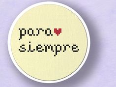 Etsy/para-siempre-cross-stitch-forever or for always-Spanish