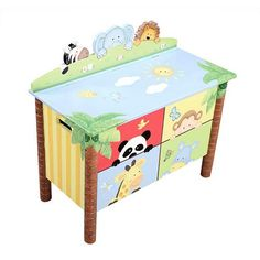 Teamson Kids Sunny Safari Toy Box $164.99