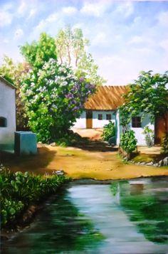 OST - paisagem casa e lago
