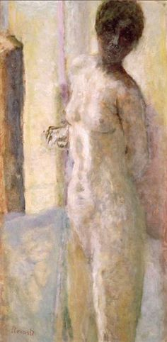 Pierre Bonnard-Nu rose, tête ombrée, 1919