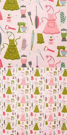 Japanese pale pink cotton fabric with apron etc, specially imported from Japan from small makers, 100% cotton, very high quality fabric, typical perfect Japanese quality #Cotton #Retro #JapaneseFabrics