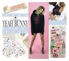 """#HappyEaster"" by juromi ❤ liked on Polyvore featuring Yeah Bunny and YeahBunny"