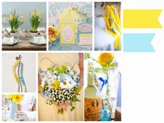 Yellow & Pastel blue
