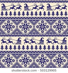 Nordic tradition pattern Cross Stitch Charts, Cross Stitch Embroidery, Cross Stitch Patterns, Needlepoint Designs, Fair Isle Knitting, Knitting Charts, Stock Foto, Christmas Inspiration, Baby Quilts