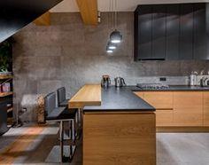 Meble do nowoczesnego domu - Duża otwarta kuchnia w kształcie litery l w…