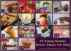 YUMMY SUMMER SNACK IDEAS FOR KIDS