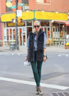 Brooklyn Blonde: Gingham and Fur