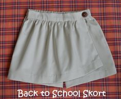 Items similar to Twist & Shout - Girl's Skort Skirt PDF Pattern. Sizes on Etsy Sewing Patterns Girls, Skirt Patterns Sewing, Pdf Patterns, Sewing Ideas, Sewing Kids Clothes, Sewing For Kids, Basic Sewing, Twist And Shout, Wrap Skort