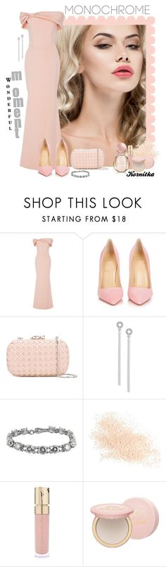 """nr 666 / Monochrome"" by kornitka ❤ liked on Polyvore featuring Christian Siriano, Christian Louboutin, Corto Moltedo, BCBGeneration, Bottega Veneta, Eve Lom, Smith & Cult, Too Faced Cosmetics, Bulgari and gown"