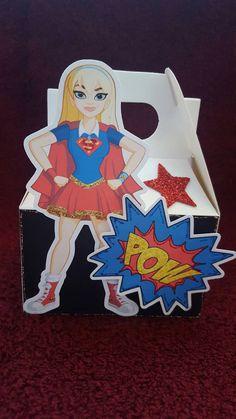 DC Superhero Girls Favor Boxes set of 10 DC Super Hero Favor Boxes DC Birthday decorations