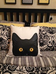 Cat pillow . Home decor