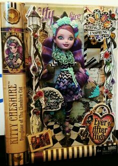Kitty cheshire doll daughter of cheshire cat....spring unsprung series ever after high dolls