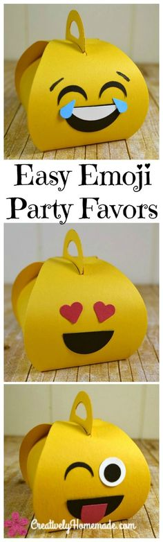 emoji party favors diy | emoji birthday party ideas | handmade party favors for kids