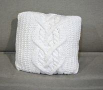 Almofada Branca Tricô
