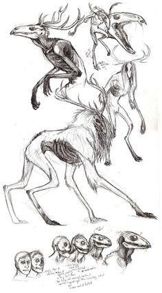 Wendigo Sketches by ~Beltaguise on deviantART: