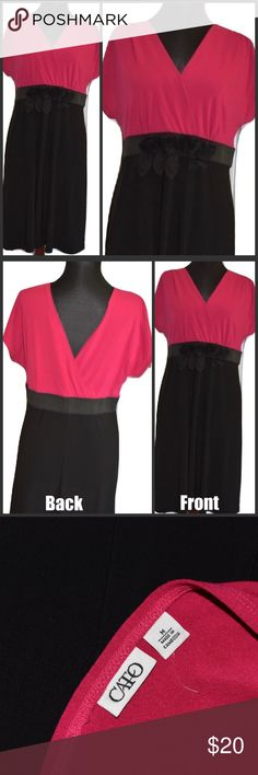 "Cato Black & Pink Colorblock Dress Size M New New Without Tags Cato 36.5"" Long 36"" Bust 32"" Waist Cato Dresses"