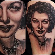 Ava Gardner Tattoo by Rose Hardy