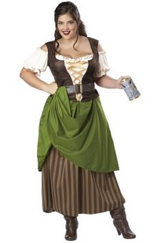 61d37d369e This plus size tavern wench costume will provide you with the best beer  around. The historical look makes a fun womens plus size pirate costume or  womens ...