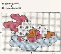 Schema punto croce Paperina1