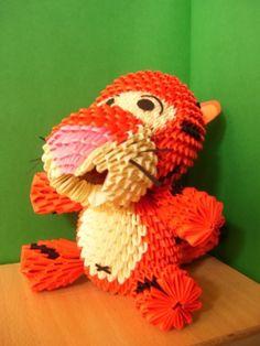 tigger - 3d origami