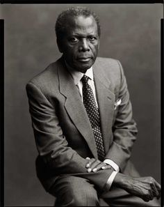 Sidney Poitier (1927) - Bahamian-American actor, film director, author, and diplomat. Photo Timothy Greenfield-Sanders