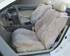 Custom Sheepskin Seat Covers from ComfySheep. Made to fit your vehicle exactly!