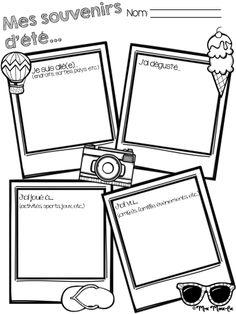 Voici une petite feuille d'activité pour la rentrée scolaire. Les élèves peuvent y écrire ou y dessiner ce qu'ils ont fait durant les vacances d'été. Cette feuille peut aussi être ajoutée au portfolio des élèves.