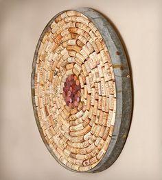 round wine cork bulletin board